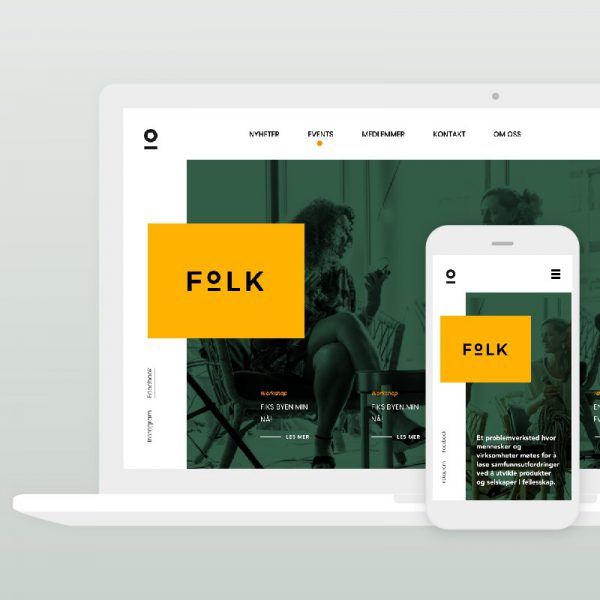New website design for Folk Oslo, design and development by Hable Studios in Barcelona