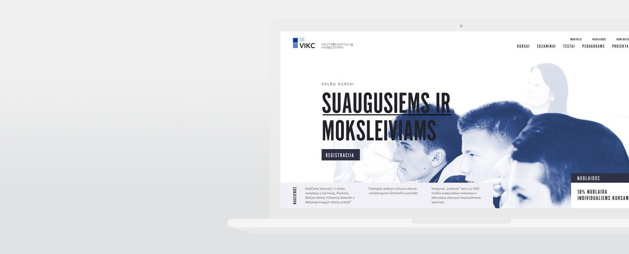 New website design for VIKC, Vilnius, design and development by Hable Studios in Barcelona